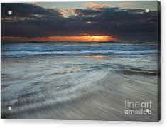 Colliding Tides Acrylic Print by Mike  Dawson