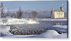 Collingwood Terminal Building In Winter  Acrylic Print