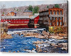 Collinsville Axe Factory Acrylic Print by Sharon Farber