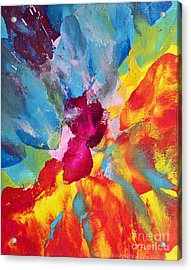 Collision Of Color Acrylic Print by Pattie Calfy