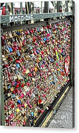 Cologne - Hohenzollern Bridge - Gypsy Locks - 02 Acrylic Print by Gregory Dyer