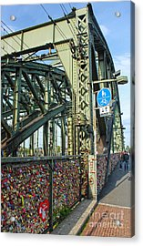 Cologne - Hohenzollern Bridge Acrylic Print by Gregory Dyer