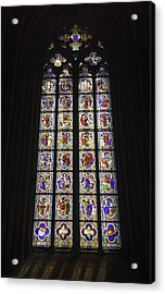 Cologne Cathedral Stained Glass Life Of Christ Acrylic Print