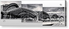 Cologne Central Train Station - Koln Hauptbahnhof - 02- Bw Acrylic Print by Gregory Dyer