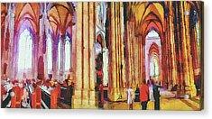 Cologne Dome Interior Acrylic Print