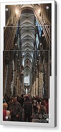 Cologne Germany - High Cathedral Of St. Peter - 01 Acrylic Print by Gregory Dyer