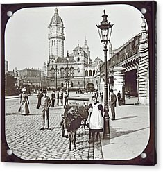 Acrylic Print featuring the photograph Cologne Germany Street Scene 1903 Vintage Photograph by A Gurmankin