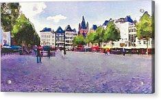 Cologne Restaurants Square Acrylic Print