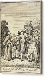 Colonel Jack Robbing Mrs Smith Acrylic Print