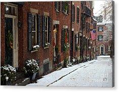 Boston Proper Acrylic Print by Stephen Flint