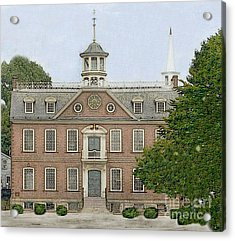 Colonial Court House Newport Rhode Island Acrylic Print by Diane E Berry