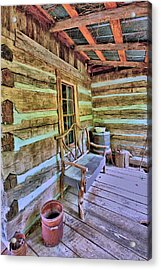 Colonial Front Porch Basics Acrylic Print by Gordon Elwell