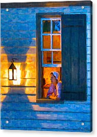 Colonial Williamsburg By Night Acrylic Print by Mark E Tisdale