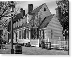 Acrylic Print featuring the photograph Colonial Williamsburg  by Trace Kittrell