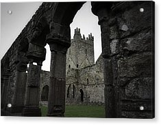 Colonnade And Tower Of Jerpoint Abbey Acrylic Print