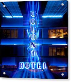 Colony Hotel 2 Acrylic Print by Dave Bowman