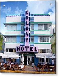 Colony Hotel Daytime Acrylic Print