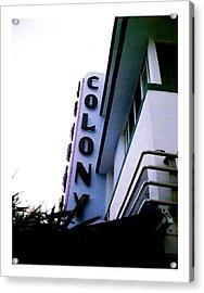 Colony Polaroid Acrylic Print by Gary Dean Mercer Clark