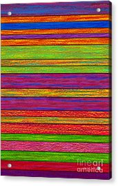 Color And Texture Acrylic Print by David K Small