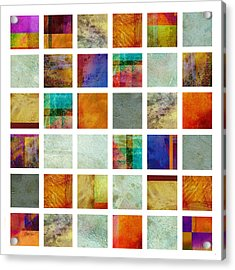 Color Block Collage Abstract Art Acrylic Print by Ann Powell