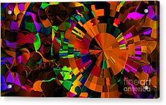Color Burst - Orange Acrylic Print