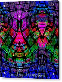 Acrylic Print featuring the digital art Color By Jesus by Visual Artist Frank Bonilla