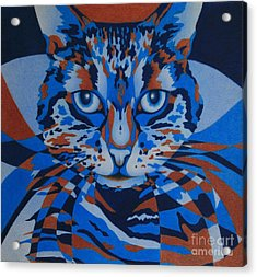 Acrylic Print featuring the painting Color Cat IIi by Pamela Clements