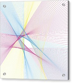 Color Computer Generated Line Pattern Acrylic Print by FrankRamspott