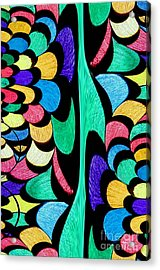 Acrylic Print featuring the digital art Color Dance by Rafael Salazar