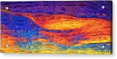 Acrylic Print featuring the digital art Color Explosion by Kirt Tisdale