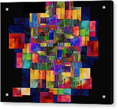 Color Fantasy - Abstract - Art Acrylic Print by Ann Powell