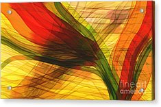 Color Flow Acrylic Print by Hilda Lechuga