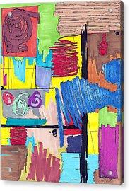 Color Fun Vi Acrylic Print by Teddy Campagna