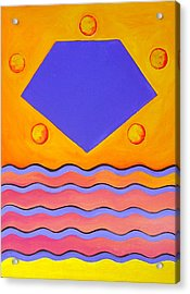 Acrylic Print featuring the painting Color Geometry - Pentagon by Carolyn Goodridge