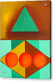 Color Geometry - Triangle Acrylic Print