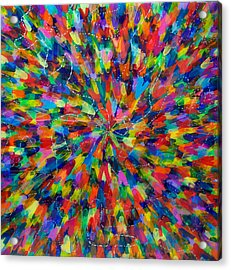 Color Implosion Acrylic Print by Patrick OLeary