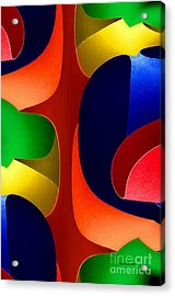 Acrylic Print featuring the digital art Color Maze by Rafael Salazar