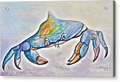 Color Me Blue . . . And Speckled Too Acrylic Print by Eloise Schneider