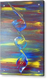 Acrylic Print featuring the painting Color by Nico Bielow