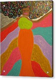 Color Of Dance Acrylic Print by Clarissa Burton