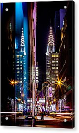 Color Of Manhattan Acrylic Print by Az Jackson