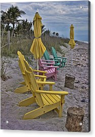 Color On A Gray Day Acrylic Print