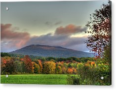 Color On Crotched Mountain - Nh Acrylic Print by Joann Vitali