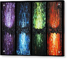Acrylic Print featuring the painting Color Panels 1 by Patricia Lintner