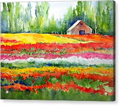 Color Ribbons Acrylic Print by Cynthia Roudebush