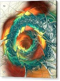 Color Spiral Acrylic Print by Anastasiya Malakhova