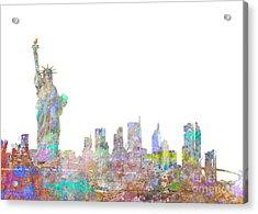 Color Splash New York Acrylic Print