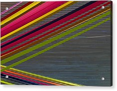 Color Strips Acrylic Print by Stuart Litoff