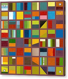 Color Study Collage 65 Acrylic Print by Michelle Calkins