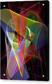 Acrylic Print featuring the digital art Color Symphony by Rafael Salazar